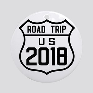 Road Trip US 2018 Round Ornament