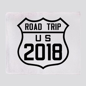 Road Trip US 2018 Throw Blanket