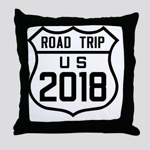 Road Trip US 2018 Throw Pillow