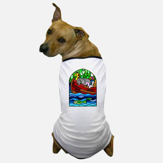 Noah's Ark Stained Glass Dog T-Shirt