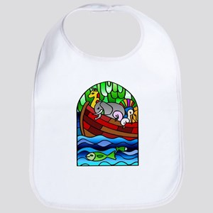 Noah's Ark Stained Glass Bib