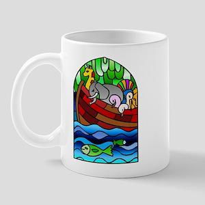 Noah's Ark Stained Glass Mug