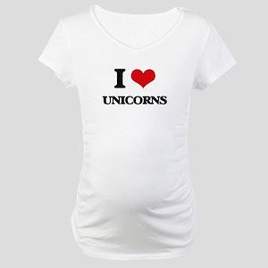 I love Unicorns Maternity T-Shirt