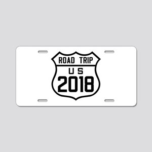 Road Trip US 2018 Aluminum License Plate