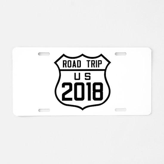 Road Trip US 2018 Aluminum License Plate