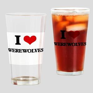 I love Werewolves Drinking Glass