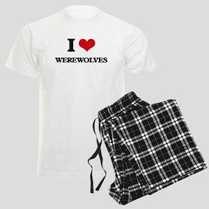 I love Werewolves Men's Light Pajamas