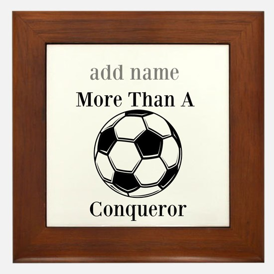 Personalized Soccer-Conqueror Framed Tile