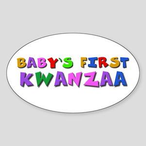 Baby's first Kwanzaa Oval Sticker
