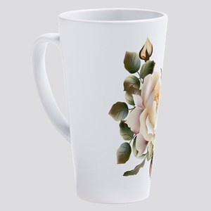 Beautiful Victorian Roses 17 oz Latte Mug