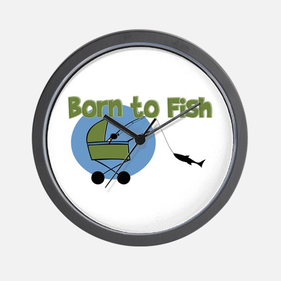 Born To Fish Wall Clock