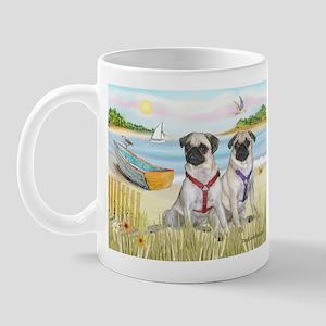 Rowboat / Two Fawn Pugs Mug