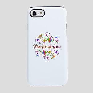 Live Laugh Love Flourish iPhone 7 Tough Case
