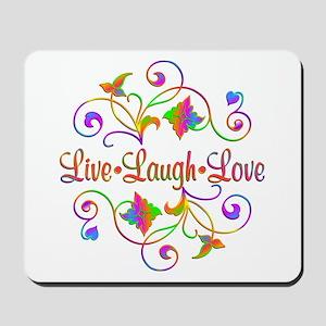 Live Laugh Love Flourish Mousepad