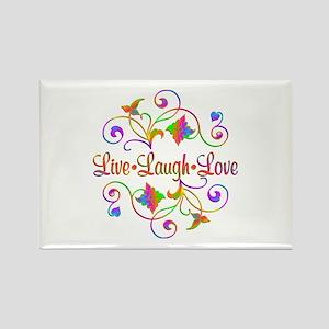 Live Laugh Love Flourish Magnets