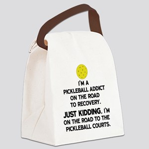 Pickleball Addict Canvas Lunch Bag