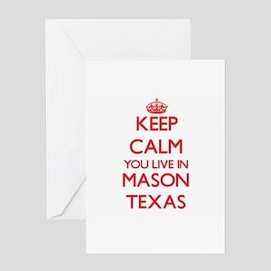 Texas mason greeting cards cafepress keep calm you live in mason texas greeting cards m4hsunfo