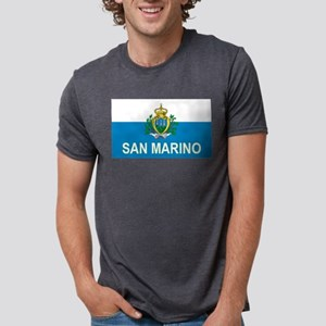 Sammarinese Flag (labeled) T-Shirt