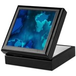 Brilliant Blues Fractal Keepsake Box