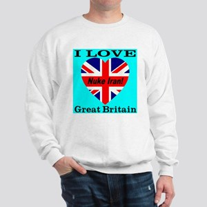 I Love Great Britain Nuke Ira Sweatshirt