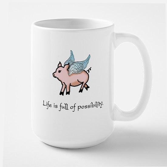Flying Pig Stainless Steel Travel Mugs
