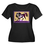 Equine T-Shirts Women's Plus Size Scoop Neck Dark