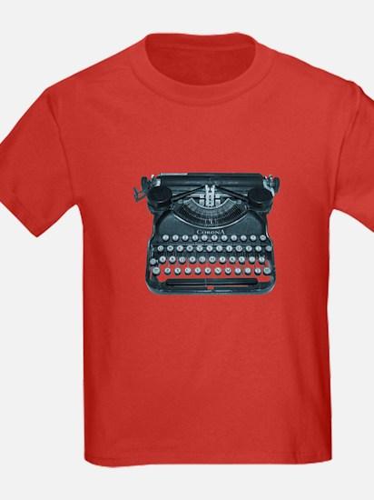 antique typewriter T