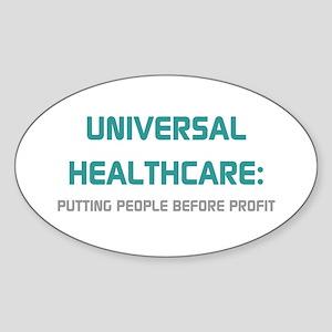 Universal Healthcare Oval Sticker