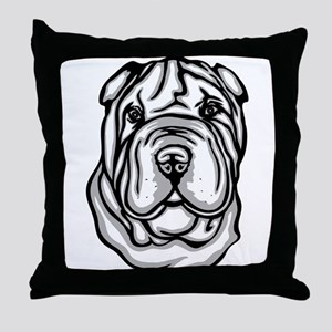 Toy Chinese Shar Pei Throw Pillow