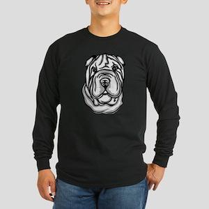 Toy Chinese Shar Pei Long Sleeve Dark T-Shirt