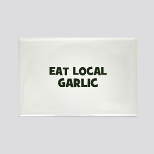 eat local garlic Rectangle Magnet