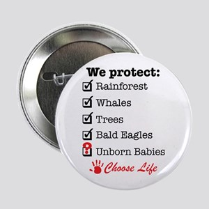 """We Protect 2.25"""" Button"""