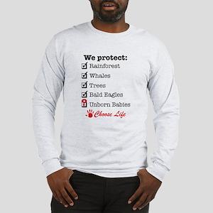 We Protect Long Sleeve T-Shirt