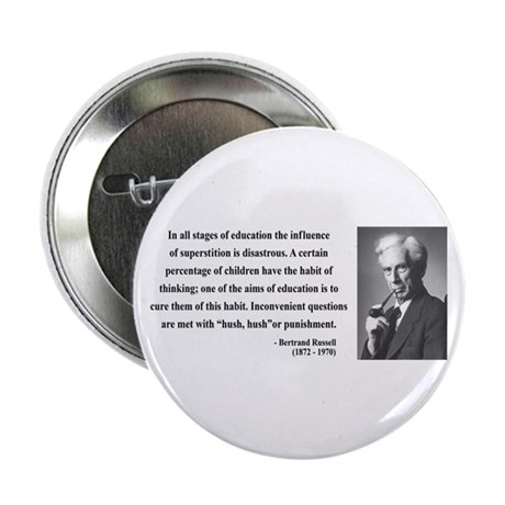 "Bertrand Russell 13 2.25"" Button (100 pack)"