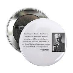 """Bertrand Russell 13 2.25"""" Button"""
