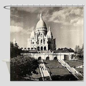 Sacré-Coeur de Montmartre in Paris Shower Curtain
