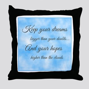 Keep Your Dreams... Throw Pillow