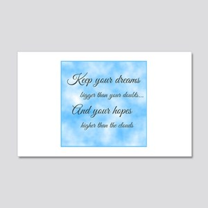 Keep Your Dreams... 20x12 Wall Decal