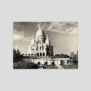 Sacré-Coeur de Montmartre in Paris 5'x7'Area Rug