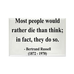 Bertrand Russell 15 Rectangle Magnet