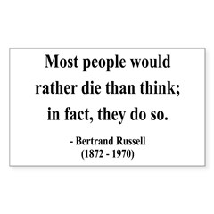 Bertrand Russell 15 Rectangle Decal