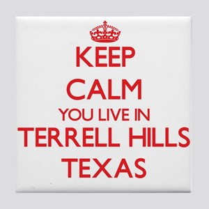 Keep calm you live in Terrell Hills T Tile Coaster