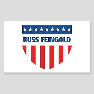 RUSS FEINGOLD 08 (emblem) Rectangle Sticker