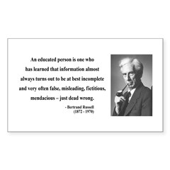 Bertrand Russell 16 Rectangle Decal