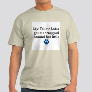 Wrapped Around Her Paw (Yellow Lab) Light T-Shirt