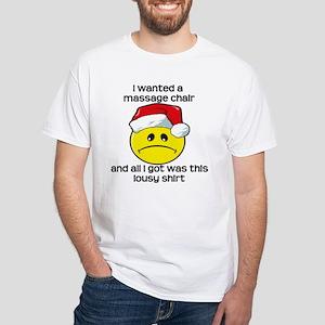Massage Chair, Gift White T-Shirt