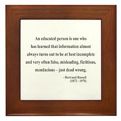 Bertrand Russell 16 Framed Tile