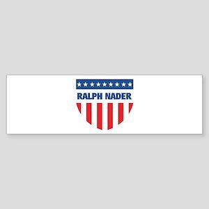 RALPH NADER 08 (emblem) Bumper Sticker