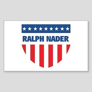 RALPH NADER 08 (emblem) Rectangle Sticker
