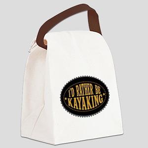 I'd Rather Be Kayaking Canvas Lunch Bag